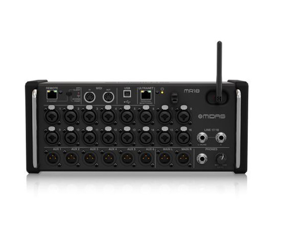 Picture of Midas MR18 18-Input Digital Mixer for iPad/Android Tablets + Warranty
