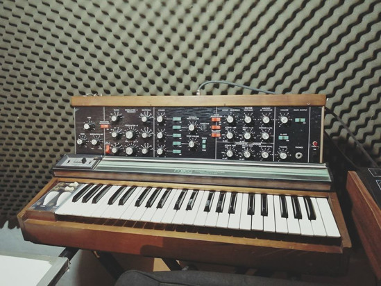 Picture of Moog Minimoog Model D original vintage analog synth synthesizer