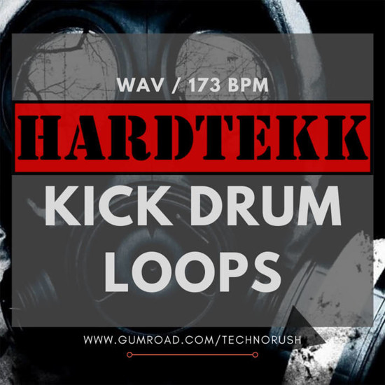 Picture of 124 Hardtekk Kick Drum Loops 173 BPM (Sample Pack WAV)