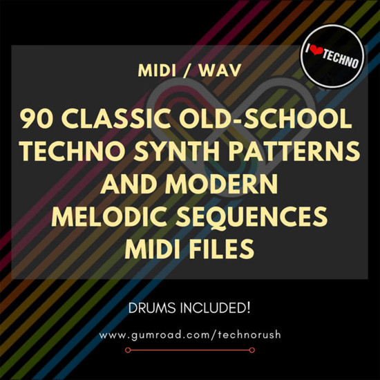 Picture of 90 Classic Old - School Techno Synth Patterns And Modern Melodic Sequences Midi Files (Sample Pack)