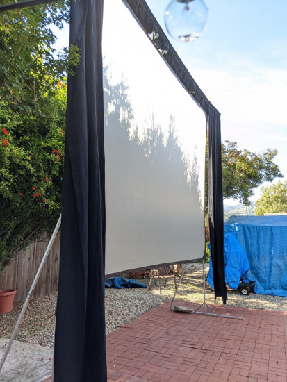 "Picture of DA-LITE Fast Fold 10'6"" x 14' Deluxe Projection Screen with Dress Kit"