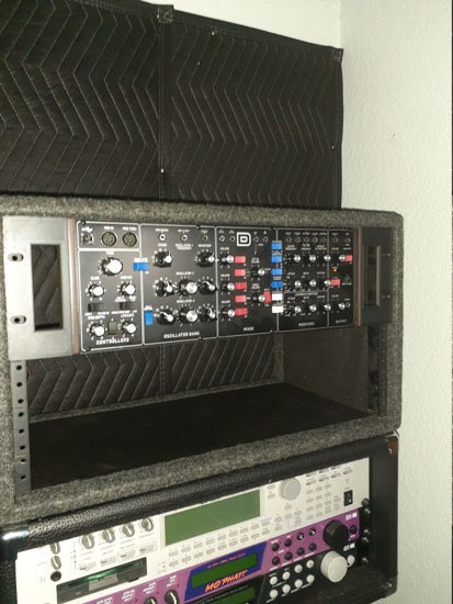 """Picture of 19"""" Rack Ears 70HP Eurorack Chassis - Model D"""