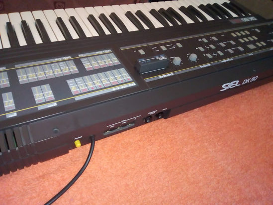 Picture of Siel DK 80 (1985) Italo SSM analog synthesizer+ ROM pack cartridge (Set N.01)