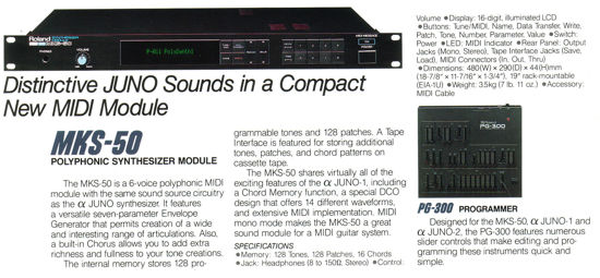 Picture of Roland MKS-50 (1986) synthesizer Alpha Juno 2 rack module