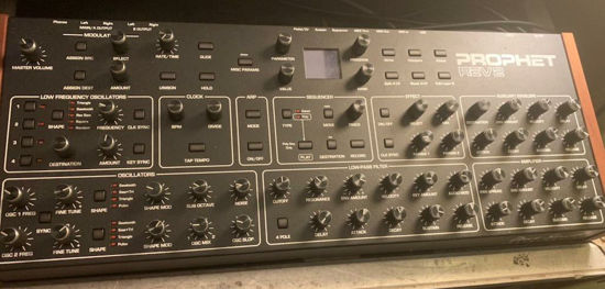 Picture of David Smith Prophet Rev 2 8 voice desktop synth
