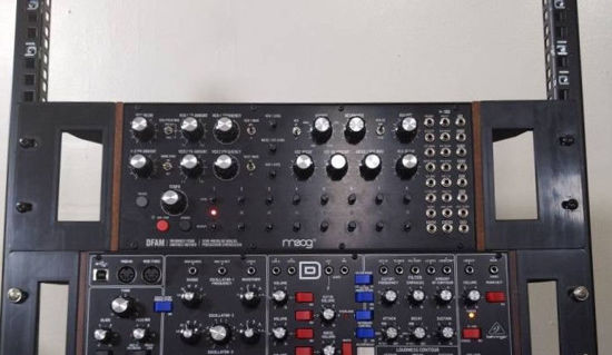 """Picture of Moog Mother-32 / Moog DFAM 19"""" Recessible Rack Ears (Pair)"""