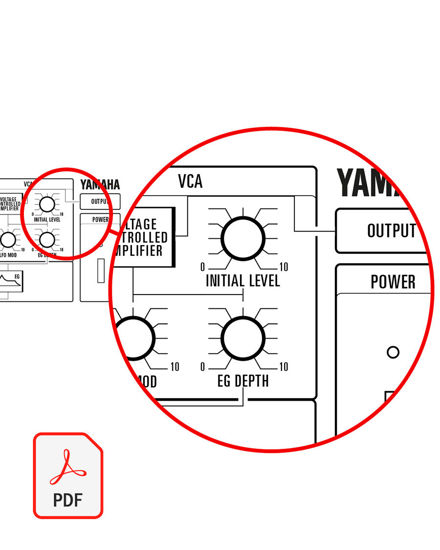 Picture of Yamaha CS-5 Blank Patch Sheet (PDF download)